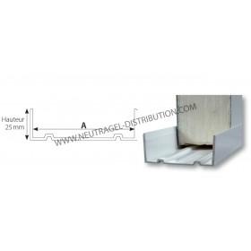 """""""U"""" de sol PVC 80 mm"""